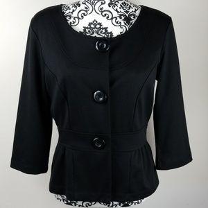 NWOT M New Directions Women's black Dress Jacket